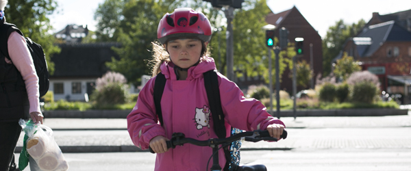 Rekordmange skolebørn bruger cykelhjelm