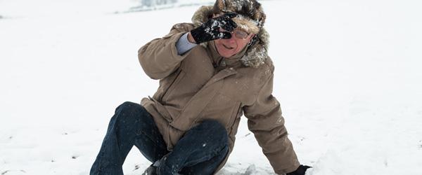 Årets isvinter har givet mange faldskader