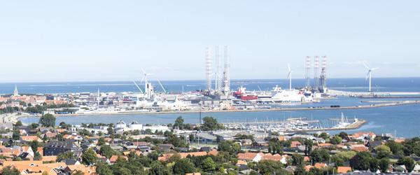 Medarbejdere på skibsværftet Orskov Yard i Frederikshavn strejker